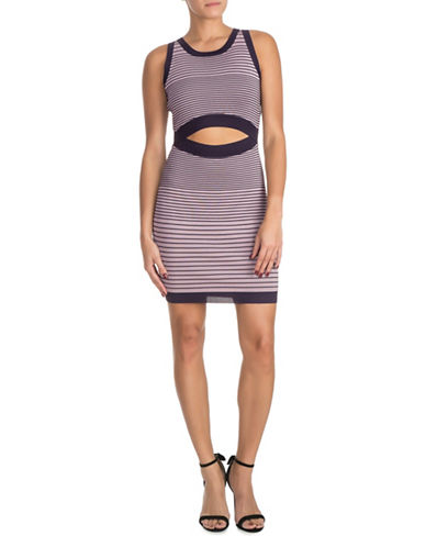 Guess Vivianne Ombre Sweater Dress-PURPLE-Large