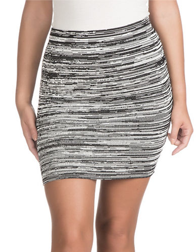 Guess Kaya Mini Skirt-BLACK MULTI-X-Small