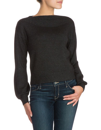 Guess Elisa Ribbed Sweater-BLACK-X-Large