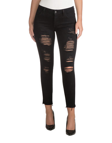 Guess Overdyed Skinny Ankle Jeans-OVERDYE BLUE-30