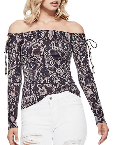 Guess Catrina Off-the-Shoulder Tee-TEMPEST-Medium