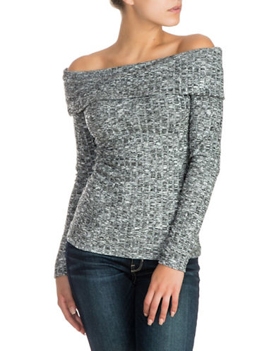 Guess Marina Off-The-Shoulder Top-GREY-X-Large