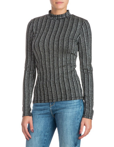 Guess Gille Mockneck Top-GREY-X-Small