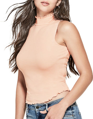 Guess Adair Mock Neck Top-ROSE CLOUD-Large