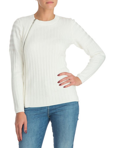 Guess Shena Ribbed Sweater-NATURAL-X-Small