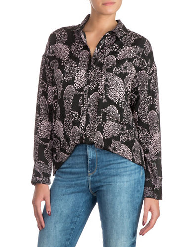 Guess Meme Oversized Shirt-BLACK-X-Large