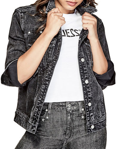 Guess Originals 90s Icon Denim Jacket-BLACK-Medium