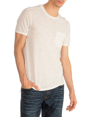 Guess Myer Slub Burnout T-Shirt-WHITE-XX-Large