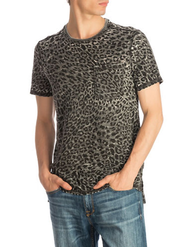 Guess Myer Leopard Burnout Tee-BLACK-Small