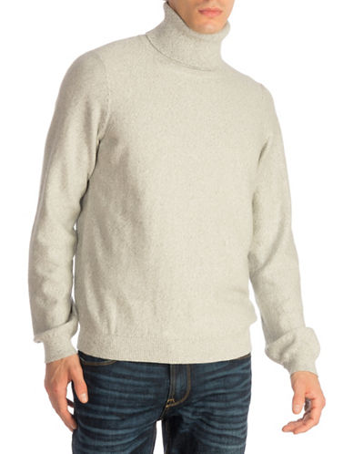 Guess Reverse-Knit Turtleneck Sweater-GREY-Large