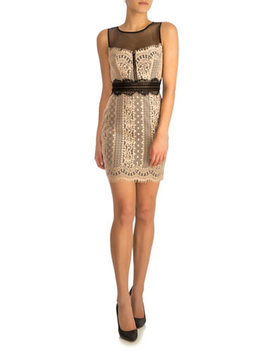 Guess Savannah Lace Dress-BEIGE-10