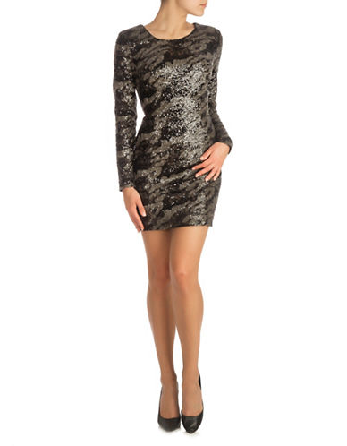 Guess Sequin Dress-BLACK MULTI-6
