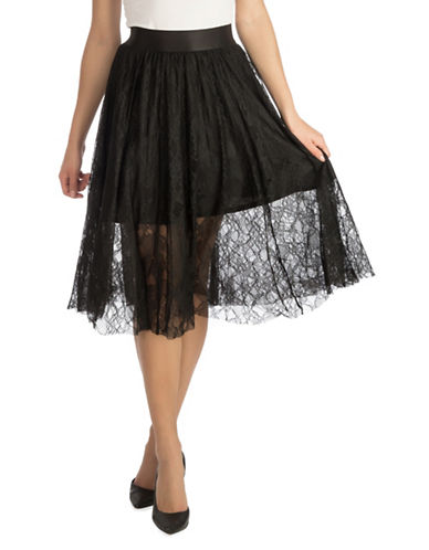 Guess Lace Skirt-BLACK-Medium