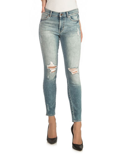 Guess High-Rise Skinny Jeans-BLUE-28