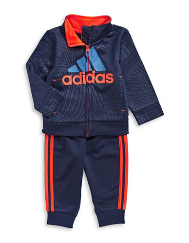 Adidas Active Logo Jacket and Pants Set-BLUE-9 Months
