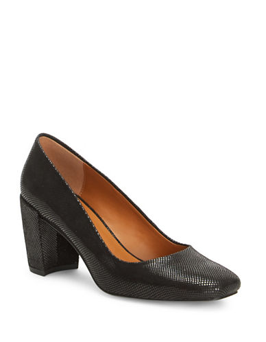 H Halston Whitney Square-Toe Leather Pumps-BLACK-9