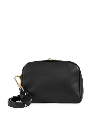 Imnyc Isaac Mizrahi Novelty Pearl Leather Crossbody Bag-BLACK-One Size
