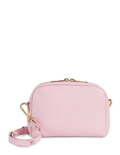Imnyc Isaac Mizrahi Novelty Pearl Leather Crossbody Bag-PINK-One Size