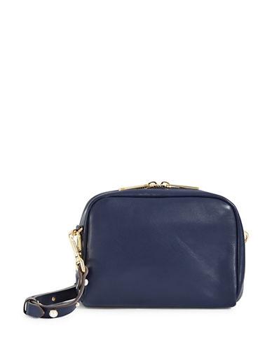 Imnyc Isaac Mizrahi Novelty Pearl Leather Crossbody Bag-NAVY-One Size