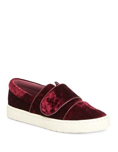 Imnyc Isaac Mizrahi Lily Velvet Sneakers-BORDEAUX-9