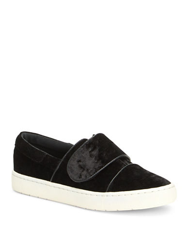 Imnyc Isaac Mizrahi Lily Velvet Sneakers-BLACK-9
