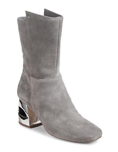 H Halston Ryan Suede Boots-GREY-8
