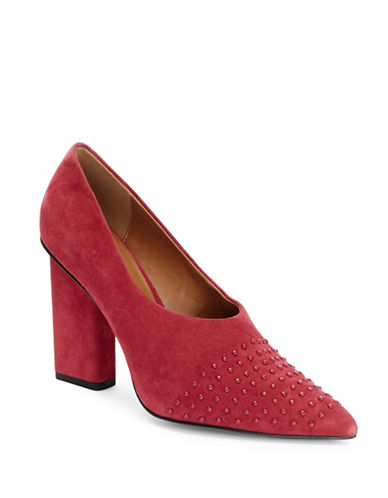 H Halston Laurel Pointy Pumps-RED-7.5