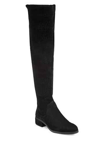 Imnyc Isaac Mizrahi Naomi Suede Over-The-Knee Boots-BLACK-9.5