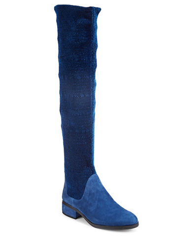 Imnyc Isaac Mizrahi Naomi Suede Over-The-Knee Boots-BLUE-8.5