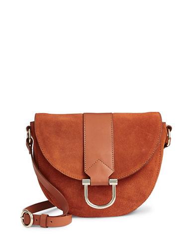 H Halston Halston Leather Saddle Bag-YELLOW-One Size