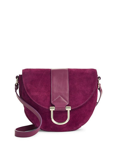 H Halston Halston Leather Saddle Bag-RED-One Size