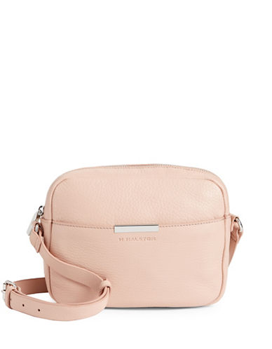 H Halston Leather Camera bag-BLUSH-One Size