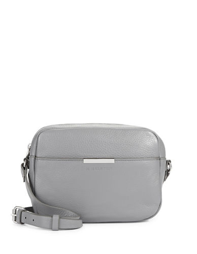 H Halston Leather Camera bag-GREY-One Size