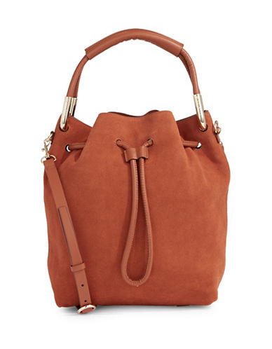 H Halston Felt Bucket Bag-BUTTER-One Size