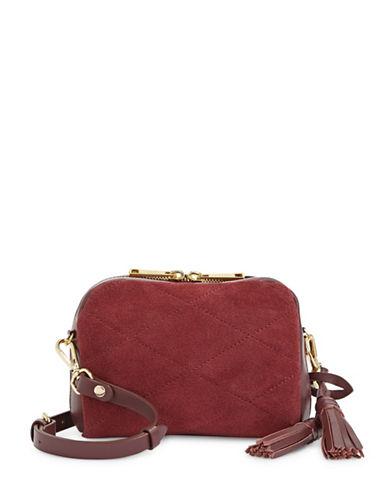 Imnyc Isaac Mizrahi Medium Leather Saddle Bag-RED-One Size
