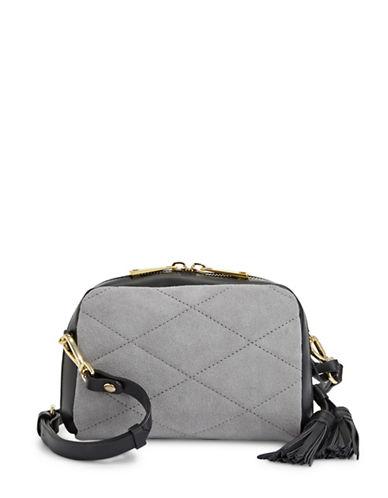 Imnyc Isaac Mizrahi Medium Leather Saddle Bag-GREY-One Size