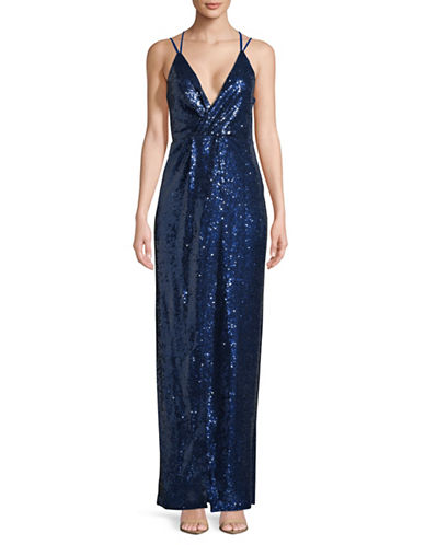 Sequined Slip Gown by H Halston