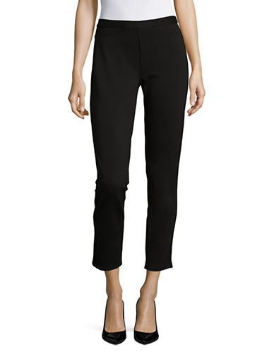 H Halston Classic Cropped Pants-BLACK-12