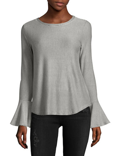 Highline Collective Bell Sleeve Top-GREY-Small