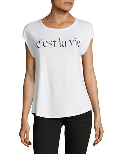 Highline Collective Cest La Vie Graphic Tee-WHITE-Medium