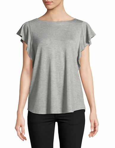 Highline Collective Flounce Sleeve Tee-GREY-X-Small
