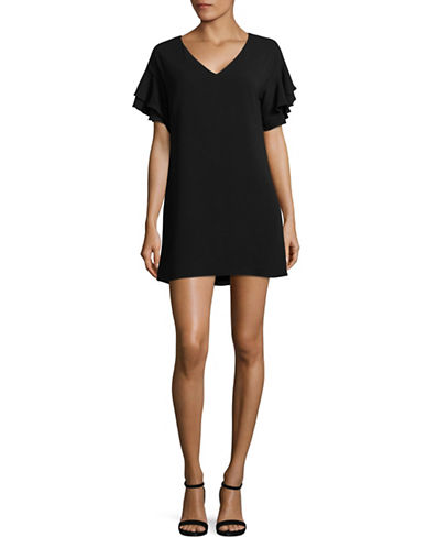 Highline Collective Flounce Shift Dress-BLACK-X-Large