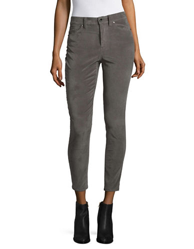 Highline Collective Five-Pocket Velveteen Pants-GREY-0