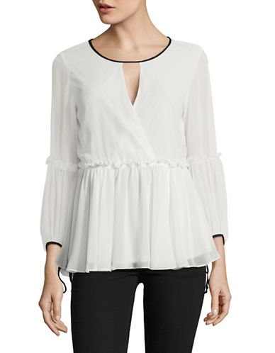 Highline Collective Bishop Sleeve Peasant Blouse-NATURAL-Small