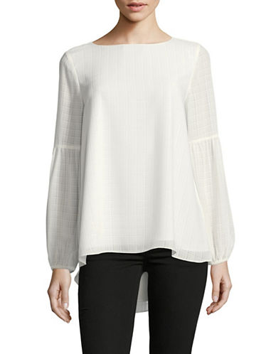 Imnyc Isaac Mizrahi Peasant Boat neck Top-NATURAL-Medium