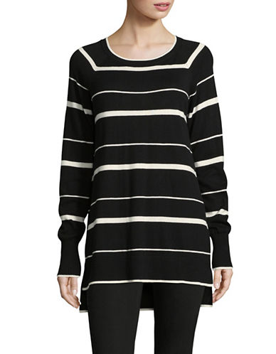 Imnyc Isaac Mizrahi Comfy Tunic-BLACK MULTI-X-Large