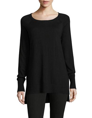 Imnyc Isaac Mizrahi Comfy Tunic-BLACK-Large