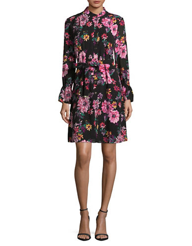 Imnyc Isaac Mizrahi Floral Mock neck Sheath Dress-MULTI-Small