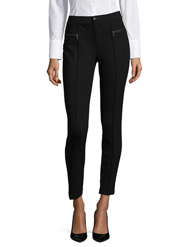 Imnyc Isaac Mizrahi Full Length Slim Leggings-BLACK-16