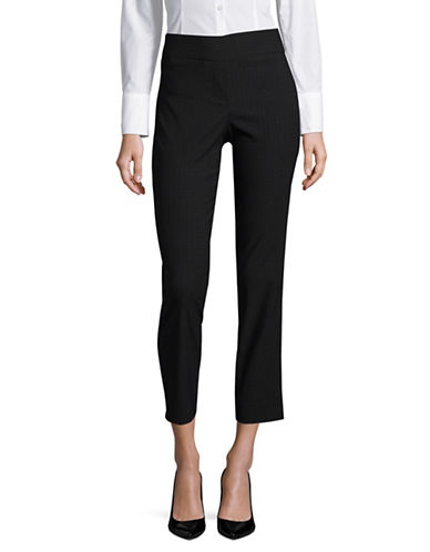 Imnyc Isaac Mizrahi Geometric Straight Trousers-BLACK-X-Small